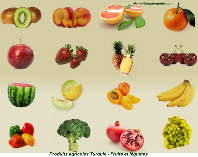 Guide turquie importer exporter fruits l gumes fournisseur - Difference fruit et legume ...